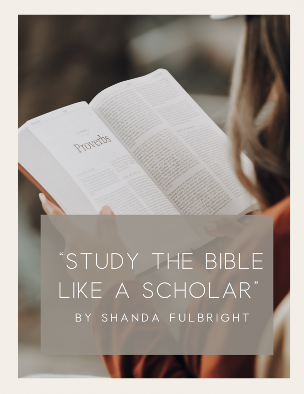 """Study The Bible Like a Scholar"""" Online Course 1 - How To Study The Bible Like a Scholar"""