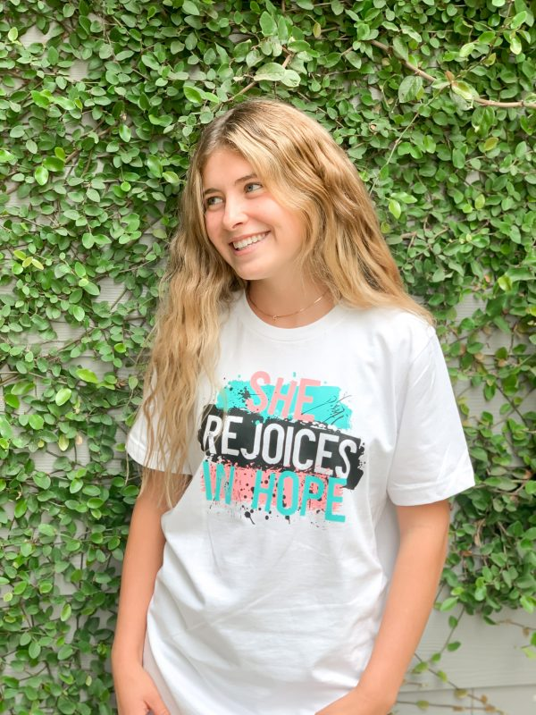 original 13 - She Rejoices in Hope tee
